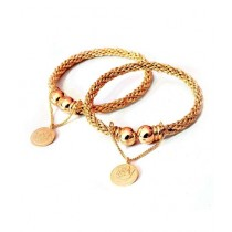 Hoorya Collection Gold Plated Bangles For Women (0021)