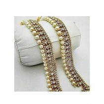 Hoorya Collection Pair Of Pearl Payals For Women
