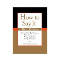 How to Say It Book 3rd Edition