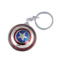 HR Business Rotating Captain America Metal Key Chain