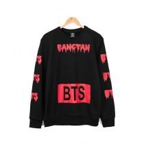 HS Store BTS Sweat Shirt For Unisex Black/Pink (0273)