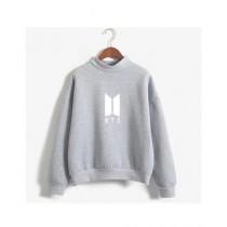 HS Store BTS Sweat Shirt For Unisex Gray (0263)