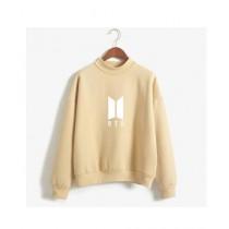 HS Store BTS Sweat Shirt For Unisex Khaki (0262)