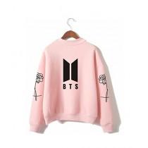 HS Store BTS Sweat Shirt For Unisex Pink (0266)