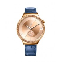Huawei Elegant Women's 44mm Smartwatch Rose Gold with Blue Leather Band