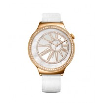 Huawei Jewel Women's Smartwatch Rose Gold with Swarovski Zirconia White Band