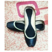 Ibrahim Shoes Leather Khussa For Women Black