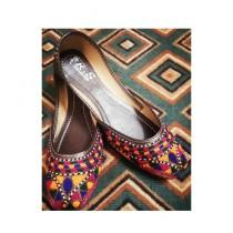 Ibrahim Shoes Stylish Thread Work Khussa For Women (0001)