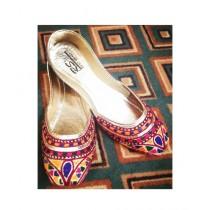 Ibrahim Shoes Stylish Thread Work Khussa For Women (0002)
