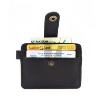 Idrees Leather Card Holder For Unisex Black