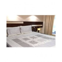InStyle Cotton Printed King Size Bed Sheet - 3Pcs (IP9259)