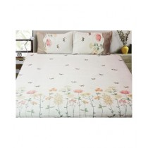 InStyle Cotton Printed King Size Bed Sheet - 3Pcs (IPJ92005)