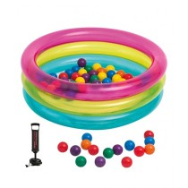 Intex 3-Ring Inflatable Baby Ball Pit Pool With Pump