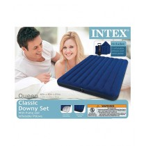 Intex Queen Downy Inflatable Airbed Mattress