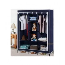 Israr Mall 3 Door Collapsible Wardrobe Blue