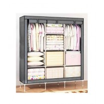 Israr Mall 3 Door Collapsible Wardrobe Grey