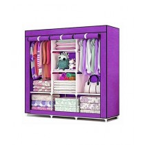 Israr Mall 3 Door Collapsible Wardrobe Purple