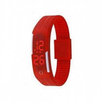 Israr Mall Led Sports Watch For Boy's - Red