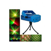 Israr Mall Mini Holographic Laser Star Projector Stage Multi Pattern Lighting Music