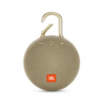 JBL Clip 3 Waterproof Portable Bluetooth Speaker Desert Sand