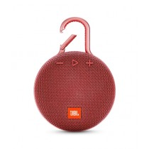 JBL Clip 3 Waterproof Portable Bluetooth Speaker Fiesta Red