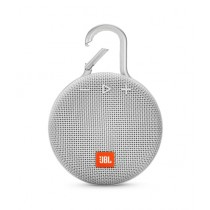 JBL Clip 3 Waterproof Portable Bluetooth Speaker Steel White