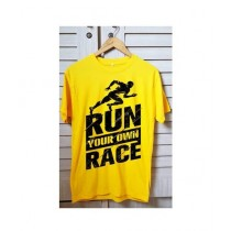 Just Order It Round Neck T Shirt For Men Yellow