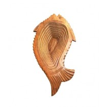 Karni Crafts Wooden Fruit & Vegetable Folding Fish Shape Basket