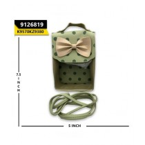 Kayazar Vertical Mobile Pouch Polka Dot Bow Green (9126819)