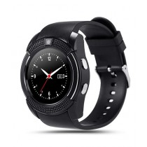 Cool Boy Mart V8 Bluetooth Smartwatch Black
