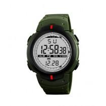 Kureshi Collections Rubber Strap Digital Men's Watch Green (0611)