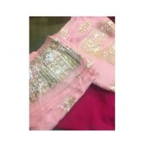 Keish Printed Chiffon 3-Pcs Women's Suit Pink (KH-0003)