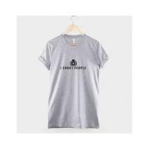 Khanani's Printed I Shoot People T-Shirt For Kids Grey (0502)