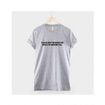 Khanani's Printed Please Don't Interrupt Me T-Shirt For Kids Grey (0498)