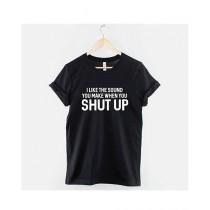 Khanani's Printed T-Shirt For Unisex Black (0194)