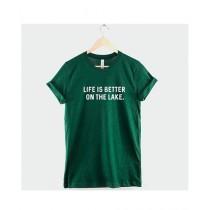 Khanani's Printed T-Shirt For Unisex Green (0279)