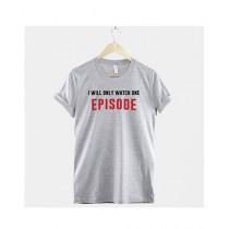 Khanani's Printed T-Shirt For Unisex Grey (0168)