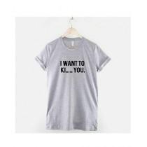 Khanani's Printed T-Shirt For Unisex Grey (0169)