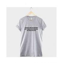 Khanani's Printed T-Shirt For Unisex Grey (0174)