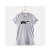 Khanani's Printed T-Shirt For Unisex Grey (0187)