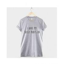 Khanani's Printed T-Shirt For Unisex Grey (0198)
