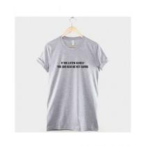Khanani's Printed T-Shirt For Unisex Grey (0255)