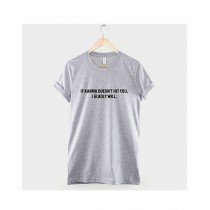 Khanani's Printed T-Shirt For Unisex Grey (0256)