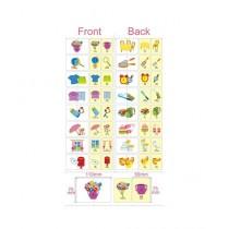 Kharedloustad A4 Size Learning Wall Sticker (0135)