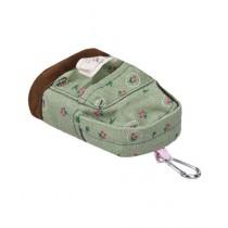 Kharedloustad Canvas Mini Floral Backpack For Women Green