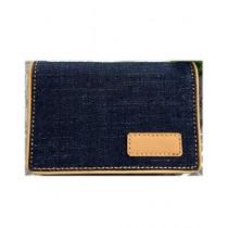 Kharedloustad Blue Denim Wallet Purse For Women