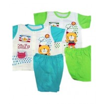 Kidz Choice Attractive Suit For New Born Baby - Pack Of 2