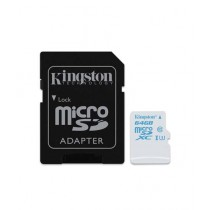 Kingston 64GB Action Camera UHS-I microSDXC Memory Card With SD Adapter