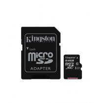 Kingston 64GB UHS-I microSDXC Memory Card With SD Adapter (SDC10G2)