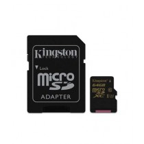 Kingston 64GB UHS-I U3 microSDXC Memory Card With SD Adapter (SDCG)